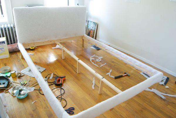 Upholstered cheap Ikea bed FJELLSE