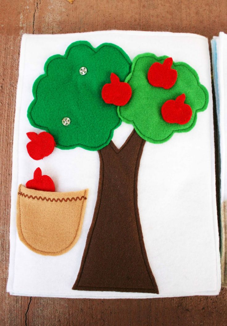 Sunshine, Lollipops, and Rainbows: The Apple Tree and the Dinosaur - Quiet Book Pages 4 & 5