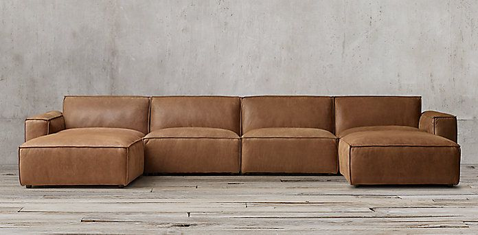 Como Leather Modular Collection Rh Modular Couch Living Room