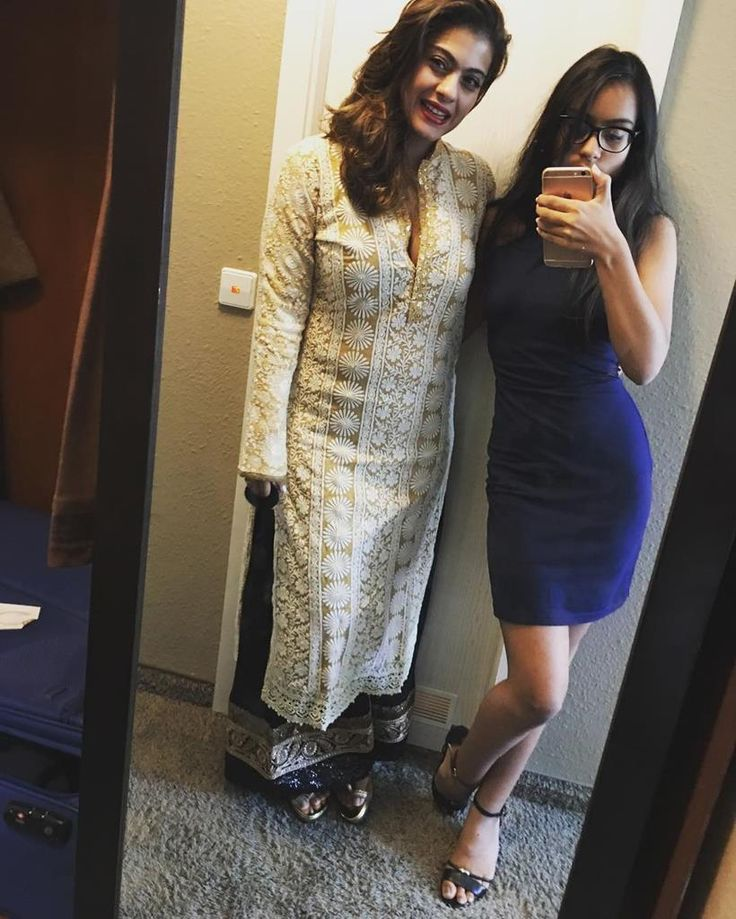 Kajol with daughter Nysa while on holiday in London. #Bollywood #Fashion #Style #Beauty #Hot