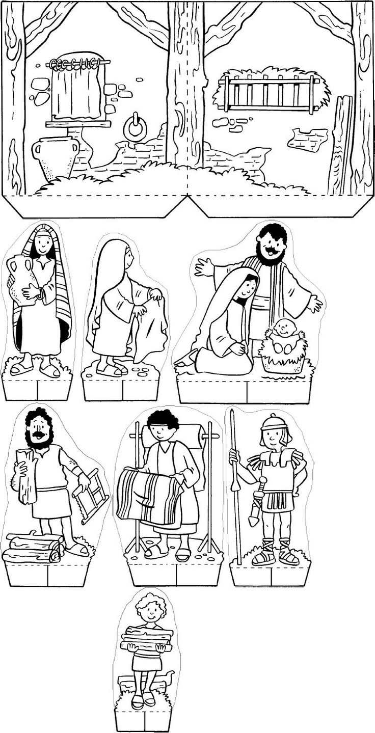 church scene coloring pages - photo#18