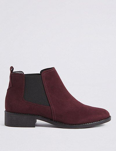 Block Heel Chelsea Ankle Boots | Marks & Spencer London