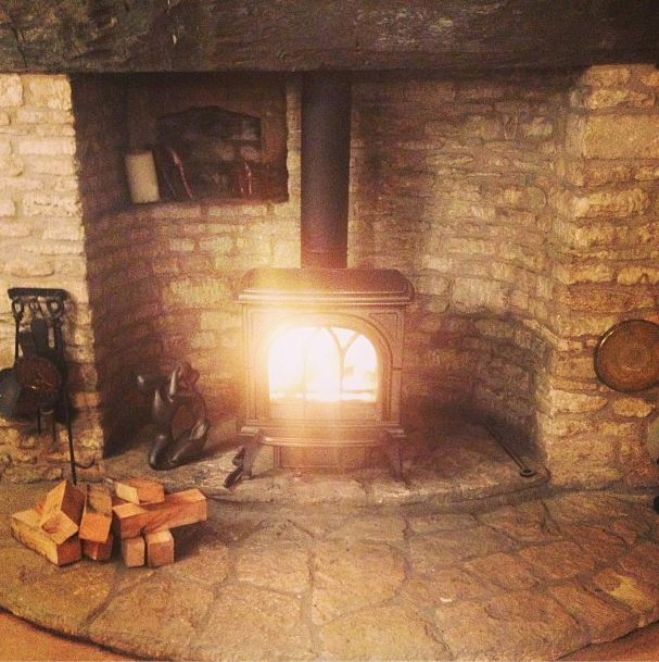 wood stove natural corner hearth ideas - Google Search