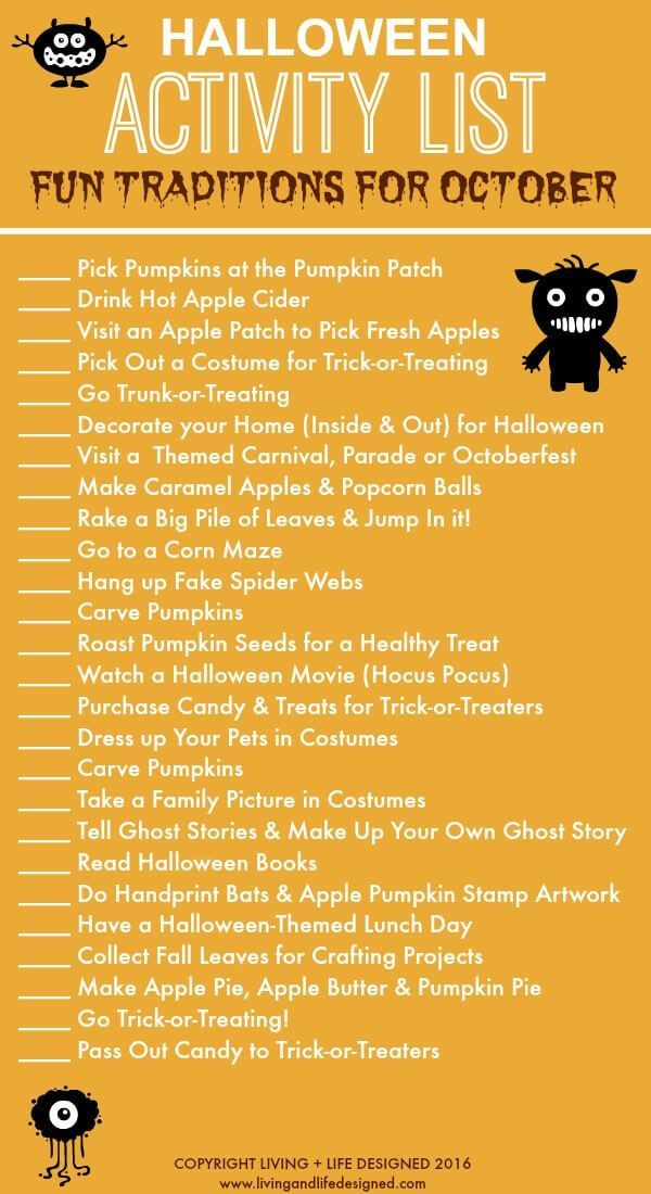 Printable Halloween activities to tackle in the month of October. Fun ideas…