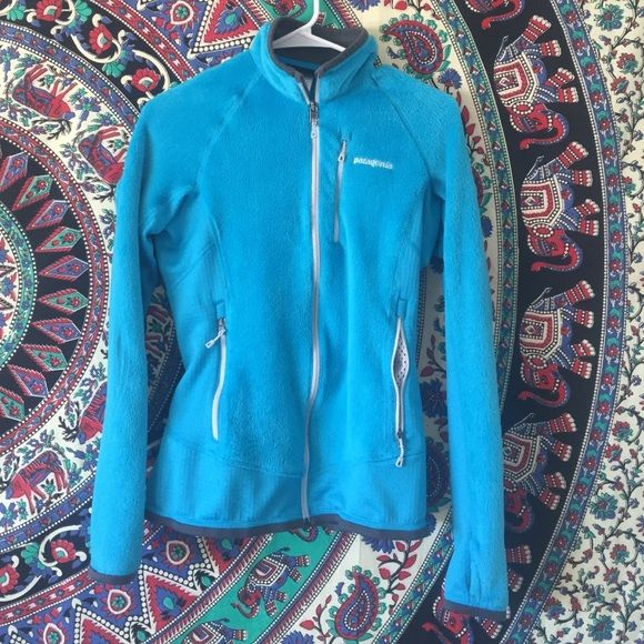Blue Patagonia Zip Up Blue zip up Patagonia. In brand new condition only worn once. Super soft and a great jacket. Patagonia Jackets & Coats