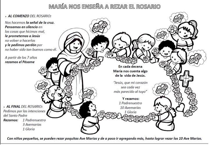 rosario meditado para niños misterios dolorosos - Buscar con Google