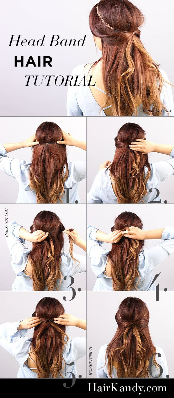 Quick and easy head band hair tutorial! Gorgeous way to spice up any hairstyle.