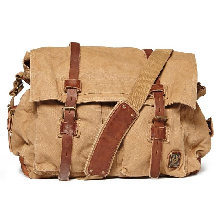 Belstaff's Canvas Messenger Bag.
