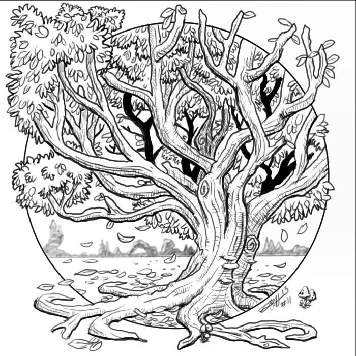 Tree sketch doodle