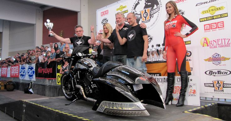 I st place in Bagger Category: Custom Chrome Custom Bike Championship Faaker See 2015