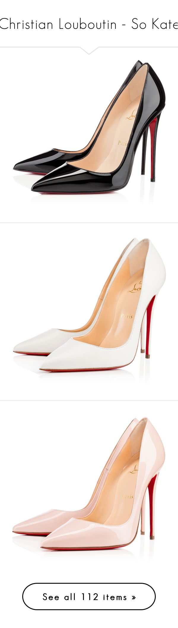 """""""Christian Louboutin - So Kate"""" by giovanna1995 ❤ liked on Polyvore featuring Pumps, christianlouboutin, sokate, shoes, pumps, heels, christian louboutin, louboutin, black and black high heel shoes"""