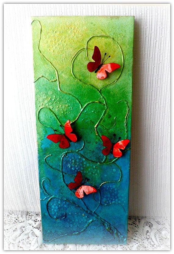 Brightness Mixed media canvas picture  mixed by CarmenHandCrafts, €39.00