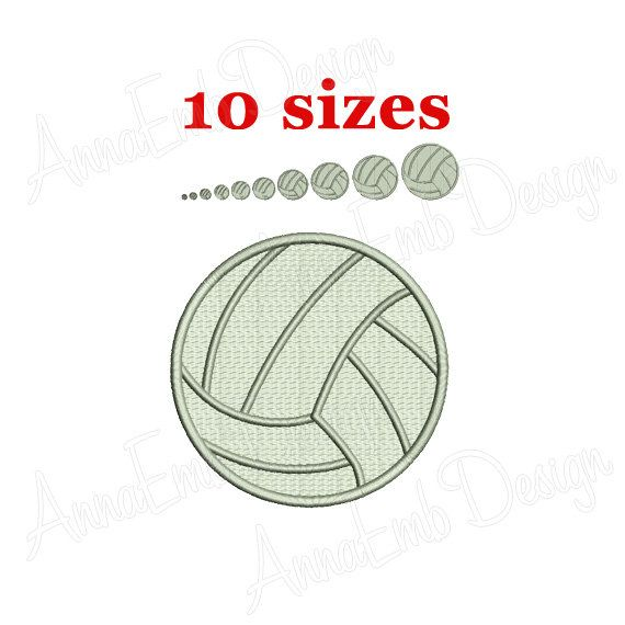 Volleyball Fill Stitch Embroidery Design Volleyball Etsy Embroidery Designs Machine Embroidery Designs Embroidery Stitches