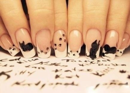 omg so cool.: Kitty Nails, Nails Art, Kitty Cat, Nails Design, Crazy Cat, Cat Nails, Cat Lovers, Black Cat, Cat Lady
