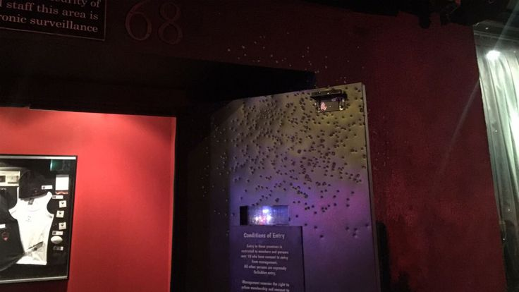 A man has been shot in the face in the second drive-by shooting outside a Melbourne strip club in the past two months.