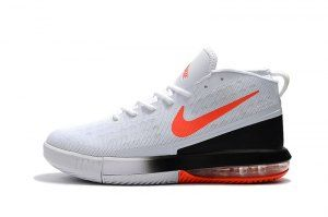 f15469cd600a Mens Nike Air Max Dominate EP White Total Crimson Black 897652 100  Basketball Shoes