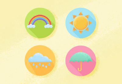How to Create Flat Weather Icons in AdobePhotoshop  Design Envato Tuts Design & Illustration