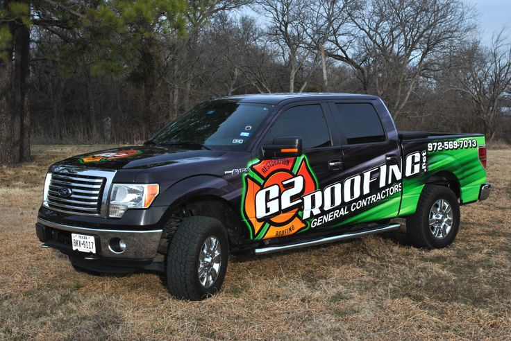 Roofing Vehicle Wrap : Best images about pickup wrap on pinterest