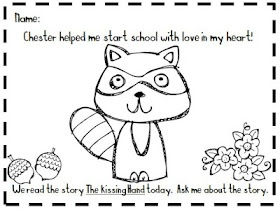 Kindergarten At Heart: The Kissing Hand Packet
