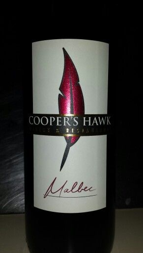 Coopers Hawk Malbec for the Hawks Game tonight! Big Red Deliciousness!