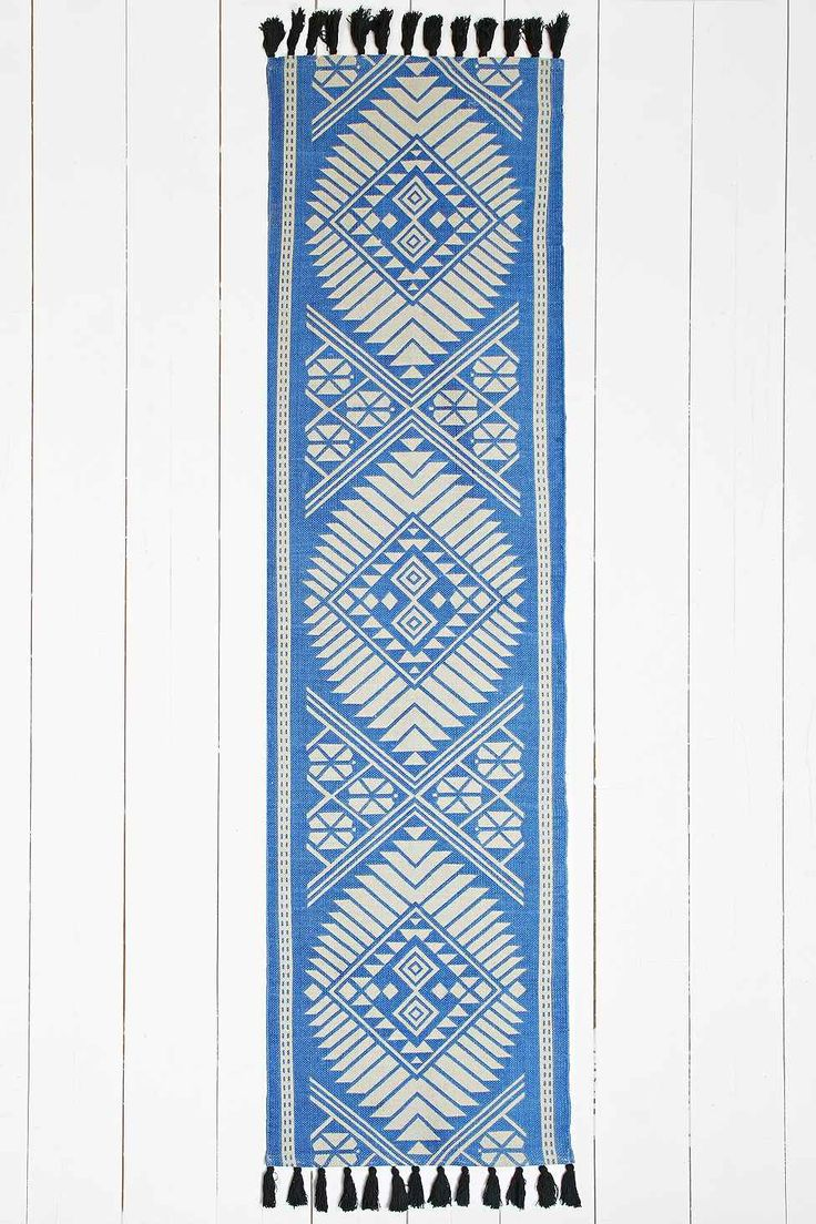 Naira 2×8 Rug in Blue  Urban Outfitters £39  Hallway