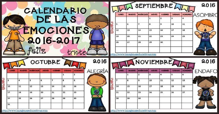 Calendario 2017 para trabajar las emociones por meses CURSO 2016-2017                                                                                                                                                                                 Más