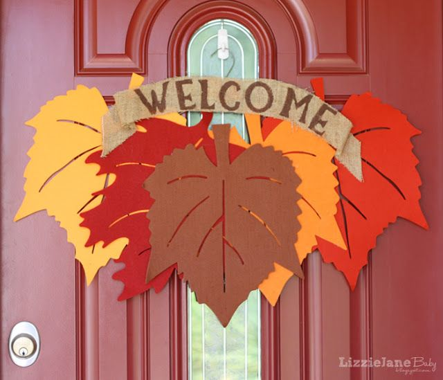 LizzieJane Baby: Fall Leaf Wreath - Dollar Tree special