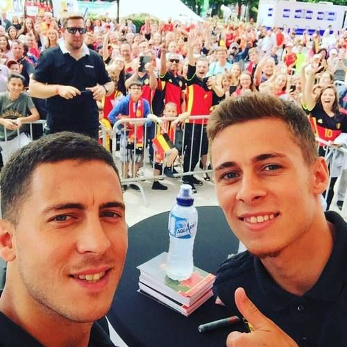 Hanging out at familyday with my little Bro. Eden Hazard, June 2017