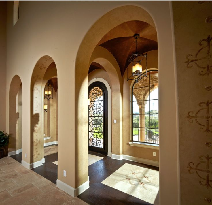Beautiful custom arches in entry way