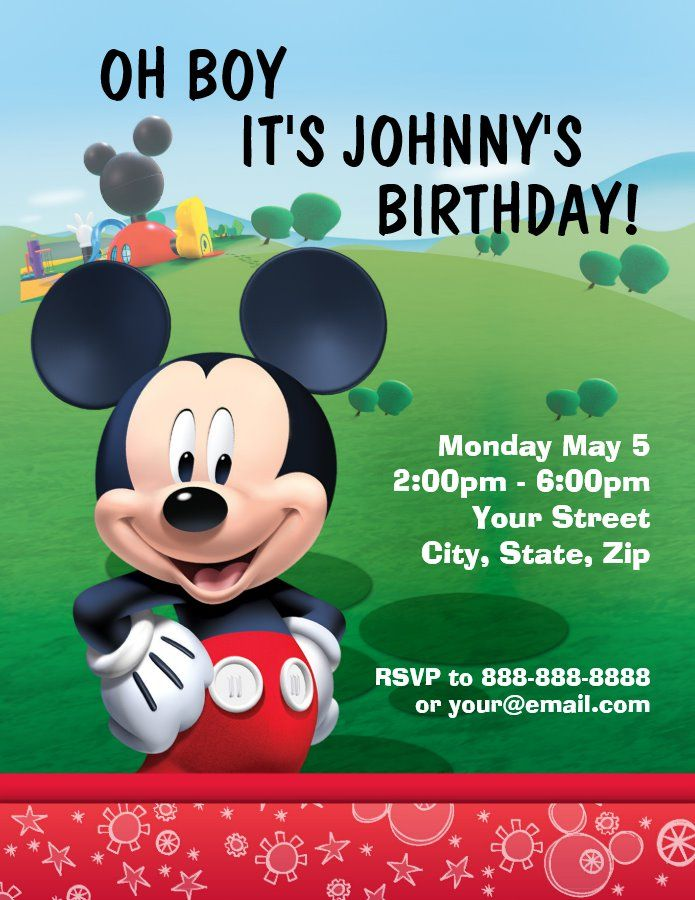 30th Birthday Invitations For Her Mickey Mouse Birthday