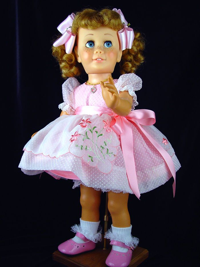 "Pink Dress fits Chatty Cathy, 18""-20"" doll. Little Charmers Doll Designs  ebay"