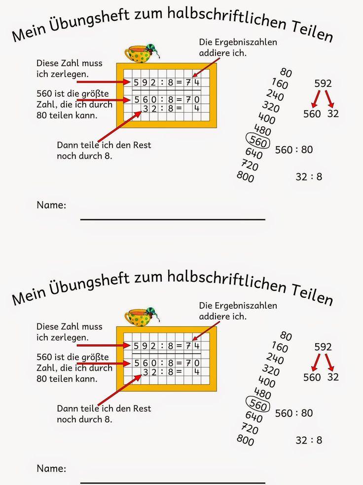 halbschriftlich dividieren mathe grundschule halbschriftliches dividieren dividieren und. Black Bedroom Furniture Sets. Home Design Ideas