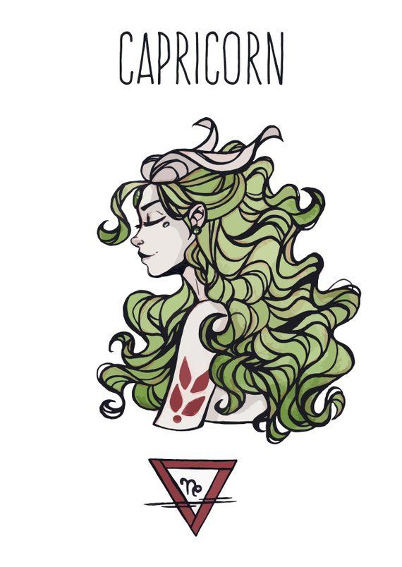 This Listing Is For 1 Capricorn Goddess A6 Blank Back Postcard