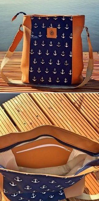 Geräumige Handtasche für die wichtigsten Dinge - Nähanleitung via Makerist.de