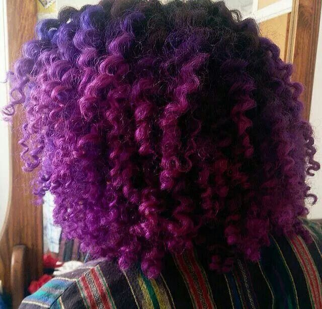 Purple curls - http://www.blackhairinformation.com/community/hairstyle-gallery/natural-hairstyles/purple-curls-2/ #naturalhairstyles