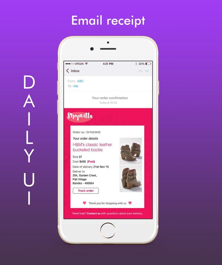 #dailyui - 017 (email receipt)