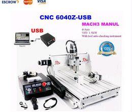 4 axis usb cnc machine en Línea-4 ejes de la máquina de grabado del CNC con puerto USB. enrutador CNC de control de velocidad manual 6040Z-USB