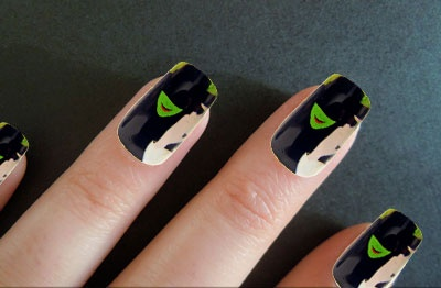 Wicked Inspired Artificial Nails.