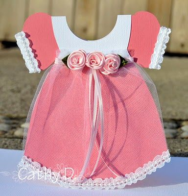 Baby Dress Card Tutorial by Cathy Dippolito