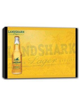 Landshark Lager Bottle Canvas Print Wall Art