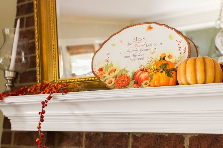 Decorative Plates And Candles Spice Up The Mantle For The Season Continue The Feel On