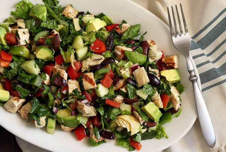 Paleo Greek Chopped Salad with Grilled Chicken Recipe #PaleoNewbie