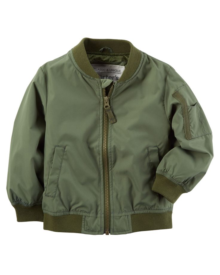 Kid Boy Bomber Jacket from Carters.com. Shop clothing & accessories from a trusted name in kids, toddlers, and baby clothes.