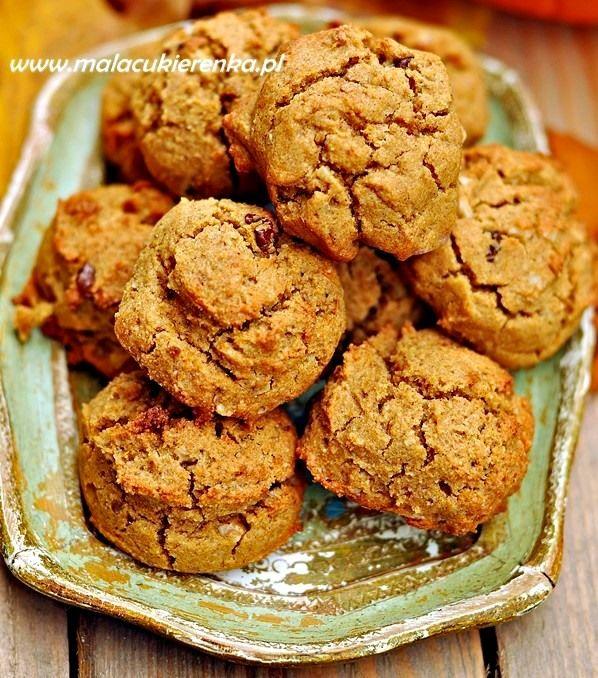 Ciasteczka z dynią, wegańskie bez glutenu - Mała Cukierenka