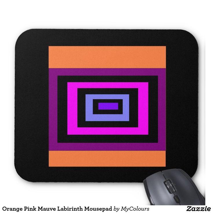 Orange Pink Mauve Labirinth Mousepad