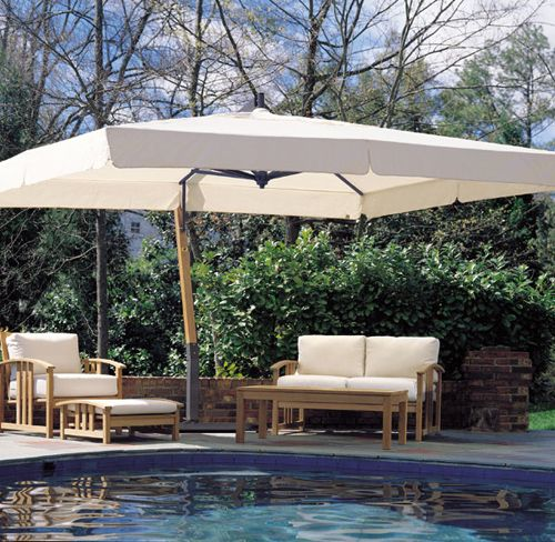 to shade pool?   10' x 13' Aluminum Cantilever Umbrella
