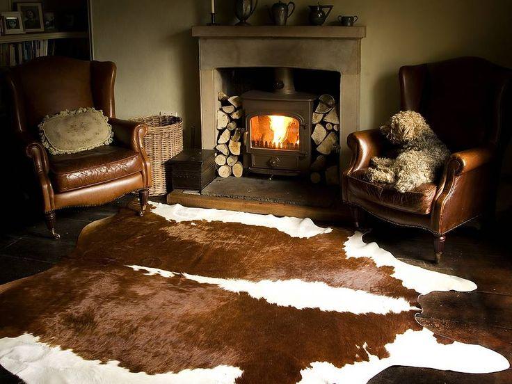 good mre chocolate cowhide rug with cow rug