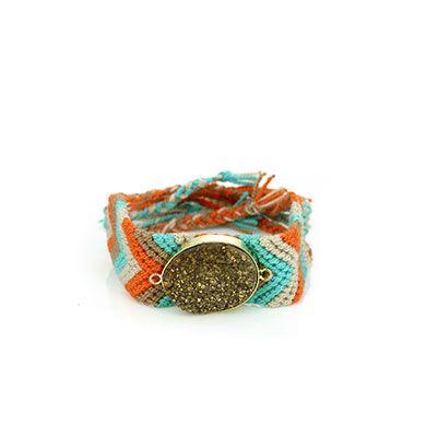 Wayuu Armband met Edelsteen 114 - €39,95