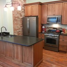 kitchen with slate appliances - Google Search
