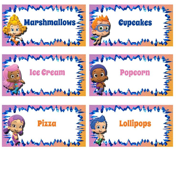 Bubble Guppies Food Labels - FREE PDF Download